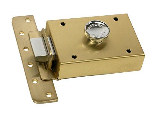 Inceca 36312 Cerradura de sobreponer contra palanca y pomo, lateral, Bombillo de 55 mm