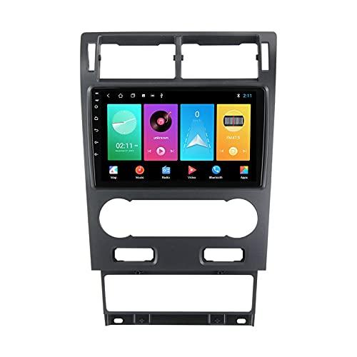 Autoradio Coche Para Ford Mondeo 2000-2007 Bluetooth 2 DIN Android Radio De Coche 9'' Pantalla Táctil 4G Wifi Plug And Play Completo RCA Soporte Carautoplay/SWC/Carplay/Bluetooth,M150s4core2+32