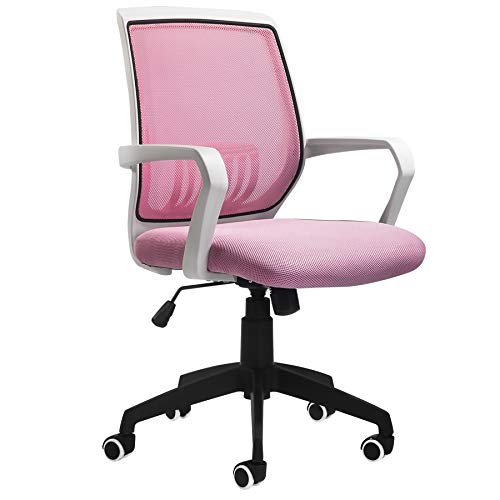 BLUERA Office Chair Ergonomic Desk Chair Mesh Computer Chair Swivel Chair with Back Lumbar Support- Multiple Colors-Pink