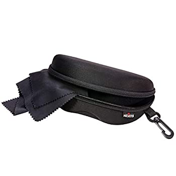 NoCry Storage Case for Safety Glasses with Felt Lining Reinforced Zipper and Handy Belt Clip