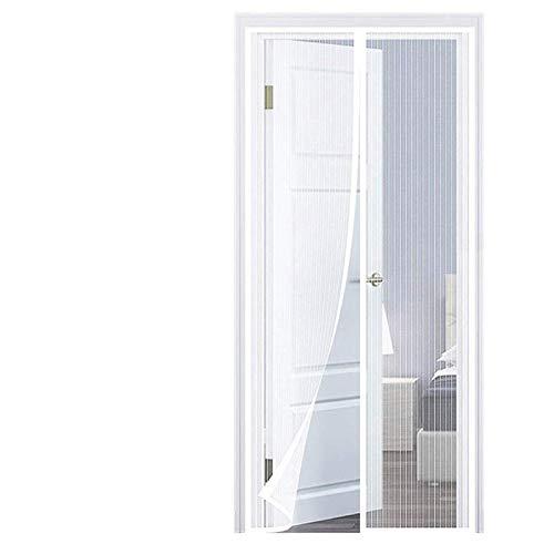 THAIKER Mosquitera Puerta Corredera Magnetica, 95x210cm(37x83inch) Mosquiteras para Puertas Magnética Automático Anti Insectos Moscas y Mosquitos para Puertas Correderas, Blanco A