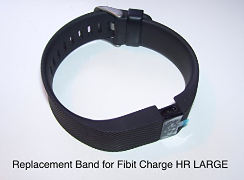 Replacement Band Strap kit for Fitbit Charge HR Activity Tracker - Large Black - CentralSound