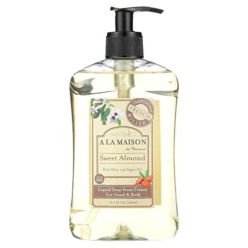 A La Maison Liquid Soap, Sweet Almond, 16.9 Fluid Ounce