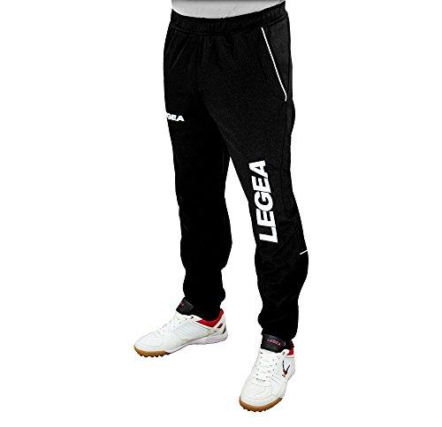LEGEA Pant Texas Pantalon pour Running Gymnastique ATHLÈTISME (Noir-Blanc, L)