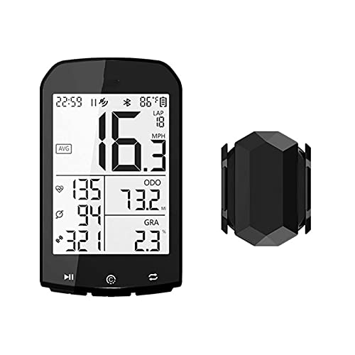 Cuentakilómetros para bicicletas Velocímetro Computadora inalámbrica para bicicletas, Odómetro para bicicletas a prueba de agua, Velocidad de conducción en tiempo real, (Reloj para bicicletas)