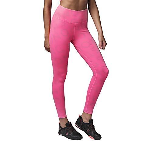 STRONG by Zumba Elastici Fitness Vita Alta Leggings da Allenamento Sexy Pantaloni Donna, Neon Pink, XL