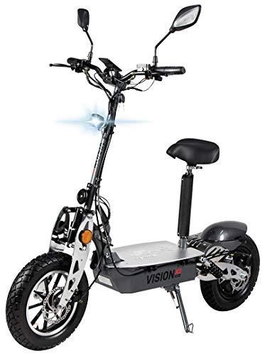 eFlux Vision X2 Elektroroller Scooter - 1500 Watt Motor - Straßenzulassung - 60 Volt Hub-Version - Bis zu 45 Km/h - E-Scooter (Grau)