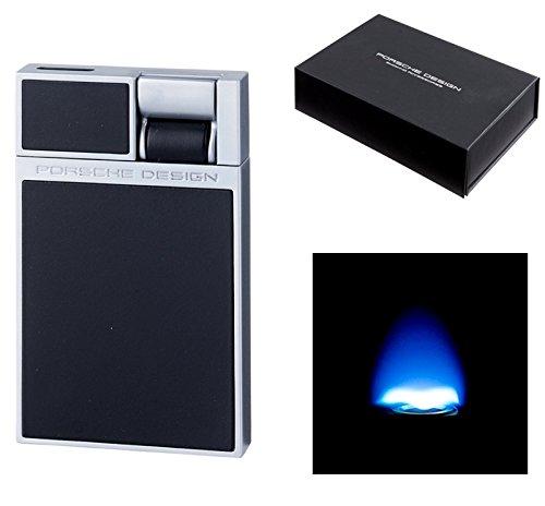 Lifestyle-Ambiente Porsche Design Feuerzeug P3632 Flat-Flame-Zündung schwarz inkl Tastingbogen