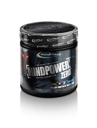 IronMaxx Mindpower Zero Powder Dose - Blueberry, 360 g