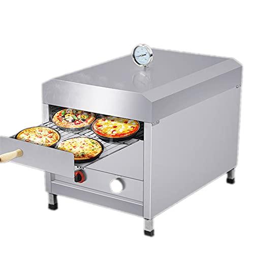 Horno De Pizza Al Aire Libre De Acero Inoxidable Con Gas Licuado, Horno Al Aire Libre Con Termómetro De Red Para Asar, Interruptor De Gas Doble