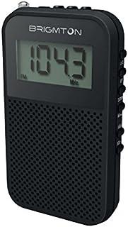 Brigmton BT 345 Portátil Digital Negro - Radio (Portátil, Digital, Am,FM, 87-108 MHz, 522-1620 kHz, 5 W)