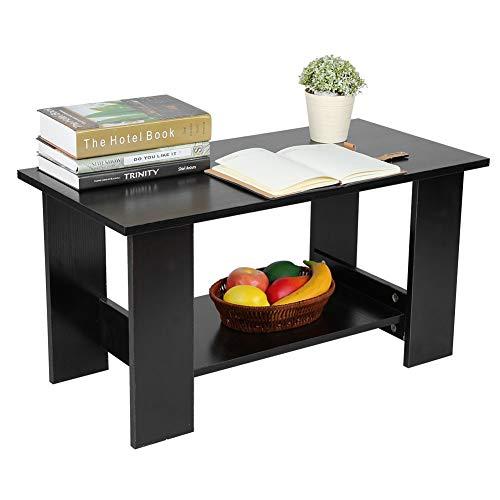 mesa de café negra fija