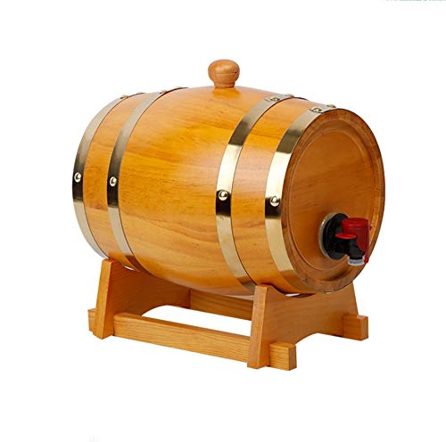Risareyi 3L 5L 10L 15L 20L リットル 大容量 ワイン樽 ボックス・ワインサーバー 蛇口付き ワインオークバレル ワインサーバー 木製 家庭用 貯蔵用 保存容器 (Color : A, Size : 15L)