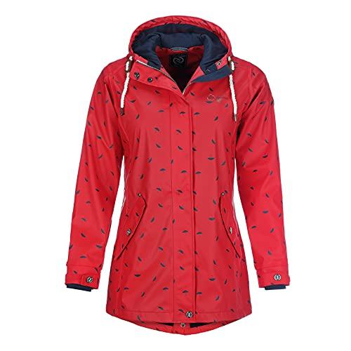 Dry Fashion Wyk Manteau de pluie pour femme 50 rouge