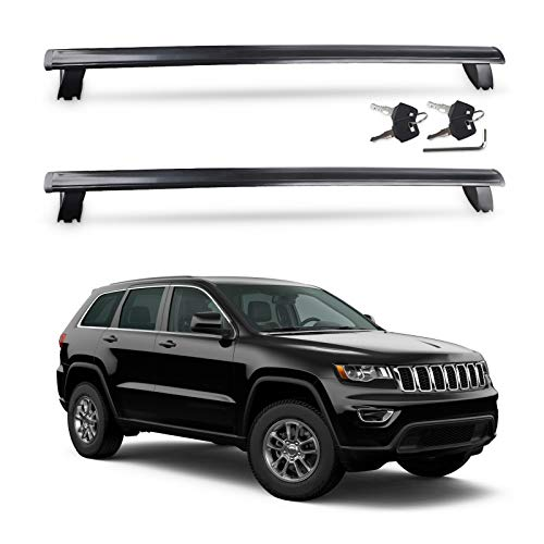 JDMON Compatible with Roof Rack Cross Bars Jeep Grand Cherokee 2011-2021 with Anti-theft Locks, Aluminum Rooftop Luggage Rack Crossbar for Rooftop Cargo Carrier Bag Kayak Canoe Bike Snowboard Skiboard
