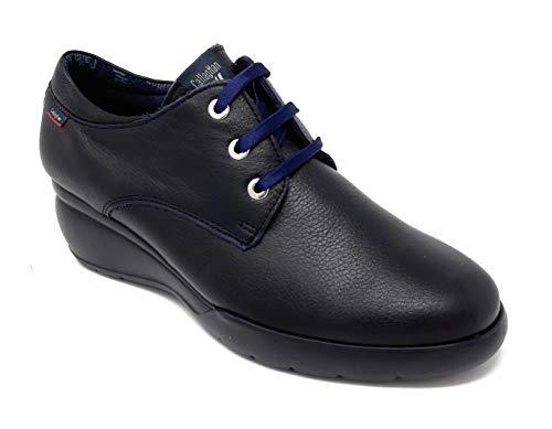 CALLAGHAN 25609 VUORY Azul, Zapatos para Mujer de Piel con TECNOLOGÍA Adaptaction: Se Adapta al pie y al Aumento de Anchura Que experimenta al Caminar.