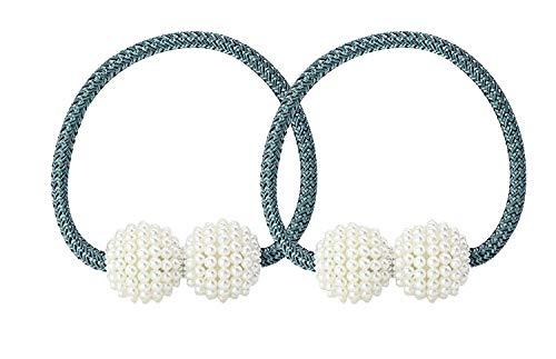 UTRO 2 Corde Fermatenda Magnetiche con Clip Fibbia Ferma Tenda in Corda (Blu pavone 1)