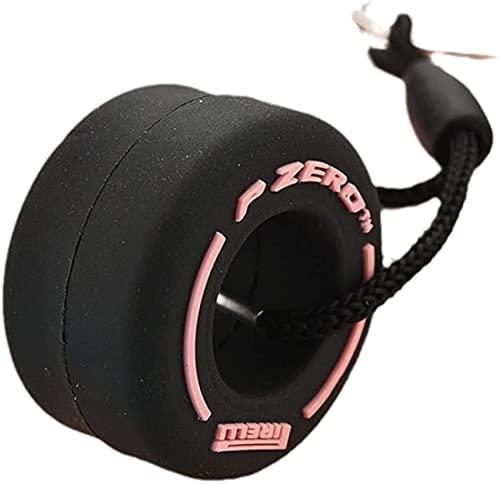 Chaveiro de pneu F1 Racing, chaveiro automotivo de pneu de roda, mini chaveiro de pneu fofo, chaveiro de presente de carro para homens e mulheres, borracha, rosa, Ø3.6CM*14CM