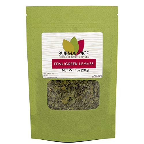 Dried Fenugreek Leaves | Kasoori Methi | Popular Seasoning in Indian and Middle Eastern Cuisine | Great for Curries and Flatbreads 1 oz.