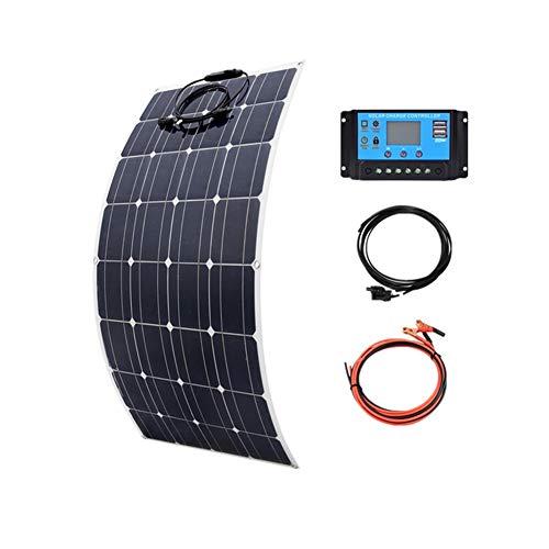 LAMP-XUE Panel Solar Flexible 100W Kit para el hogar Sistema