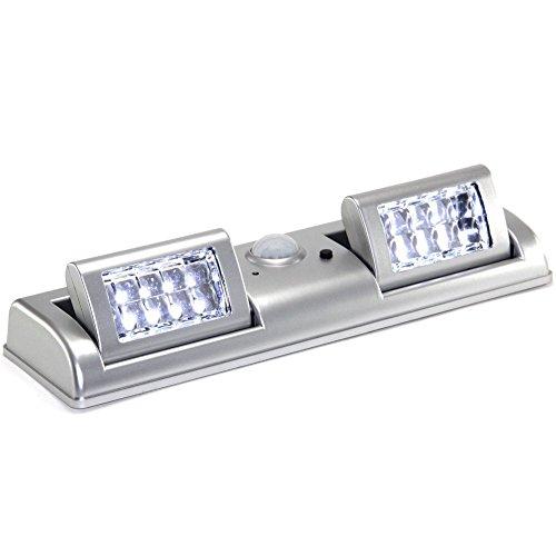 FISHTEC ® Lámpara domótica de 16 luces LED, con Detector por infrarrojos, 50 lumens