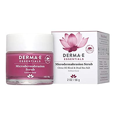 DERMA E Microdermabrasion Scrub with Dead Sea Salt- essential Microderm quality facial scrub works as an exfoliator to reduce scars & wrinkles for flawless, hydrated skin from DERMA-E