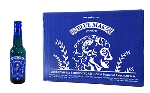 Griechisches Bier, Blue Mak, Premium-Exportstärke Pilsner, Zeos, Athens, Griechenland (24 x 0.33l Flaschen)