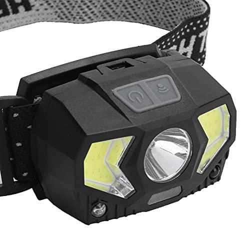 Linterna frontal LED, lámpara frontal para llevar Luz frontal recargable USB Linterna frontal impermeable para acampar, senderismo, pesca, montañismo