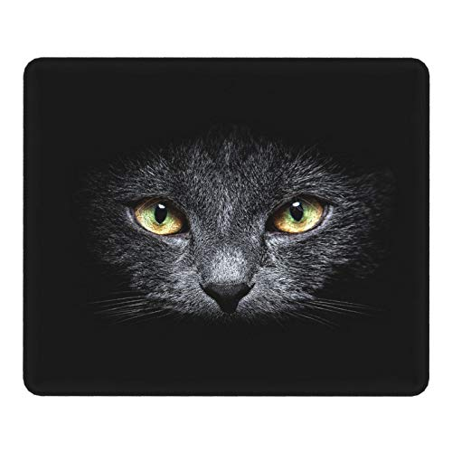 Cool Mouse Pad Gaming,Desk Mat Design Accessories Non-Slip Keyboard Mouse Mat Desk Pad for Work Game Office Home,Cute Black Cat Mouse Mat