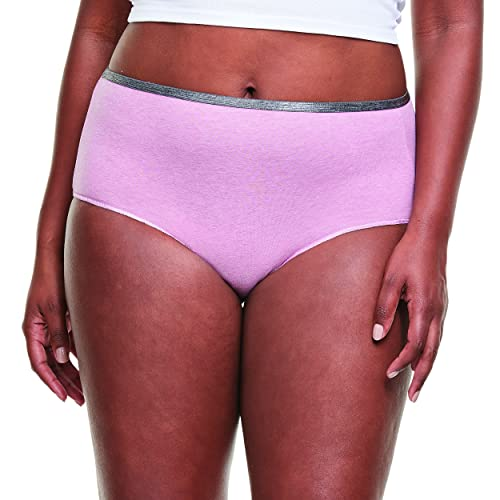 Hanes Women's Breathable Cotton Stretch Brief, 10 Pack, Assorted, 7