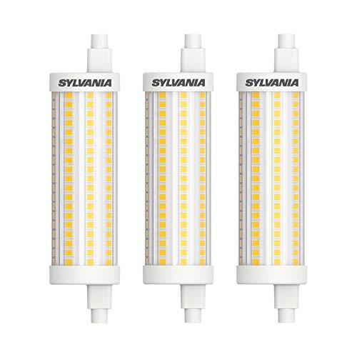Sylvania R7S LED 118mm Stablampe - LED Halogen Ersatz (15 Watt, 2000 lm, Lichtfarbe: 2700 K), LED Leuchtmittel warmweiß dimmbar [Energieklasse A++] (3 Lampen)