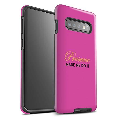 Stuff4® glanzende harde schokbestendige hoes/case voor Samsung Galaxy S10 / Made Me Do It/roze patroon/Prosecco-mode collectie