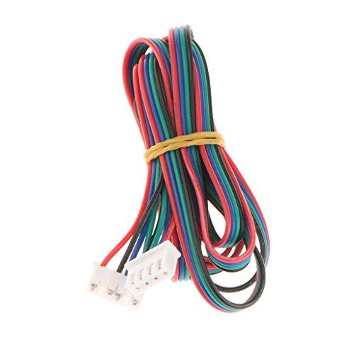 Homyl 1 Stück 1M Schrittmotor Kabel 4-polig bis 6-polig Stepper Motor Kabel 3D-Printer Zubehör