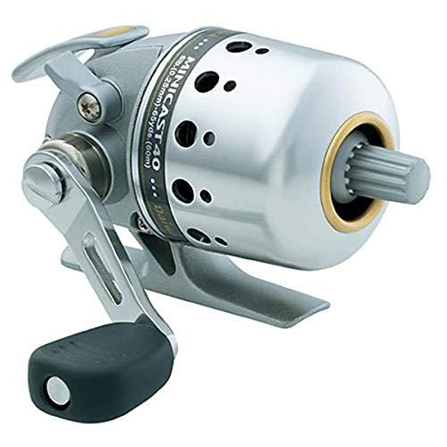 Daiwa Minicast MC40, 4.1: Gear Ratio, BU Bearings, 16.10' Retrieve Rate, Right Hand,Silver