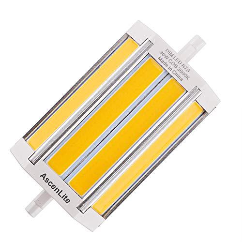 30W COB Dimmbare R7s LED-Scheinwerfer-Birnen-118mm Warm Weiß 3000K 200 Degrees Double Ended J118 R7s LED Lampe 100W-150W Halogen-Ersatz