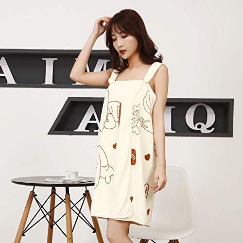 Toallas de baño para mujer 80 x 135 toalla de fibra versátil mágica para mujer puede llevar una falda de baño suspendida, absorbente de 200 x 135 cm, color amarillo claro