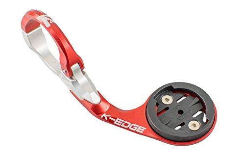 K-EDGE Race Aero - Soporte para Garmin Edge 20, 25, 520, 820, Rojo, Talla única