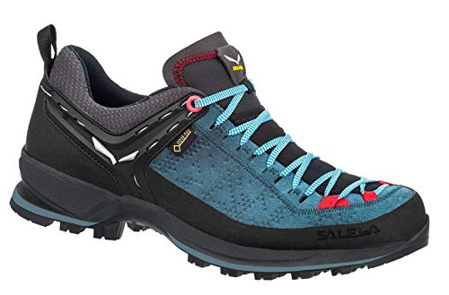 Salewa WS MTN Trainer 2 GTX Women Größe UK 7 Dark Denim/Fluo Coral