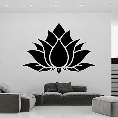 Yoga vinilo pegatinas de pared Lotus calcomanías decoración del hogar budismo murales dormitorio decoración de la sala de estar - Tamaño: 57x81cm