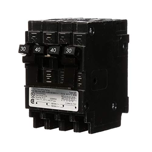 Siemens Q23040CT2 30-Amp Pole/40-Amp Double Pole 10-Kaic Circuit Breaker