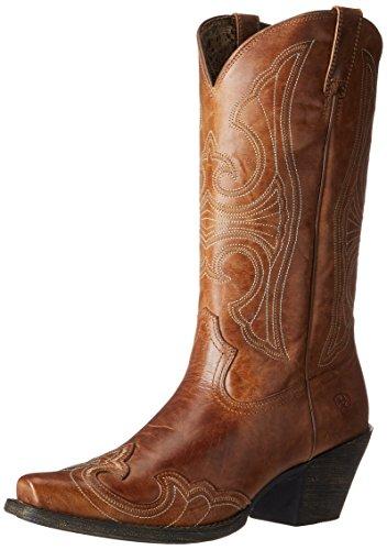 Ariat Women's Women's Round Up D Toe Wingtip Western Cowboy Boot, Sandstorm, 11 B US