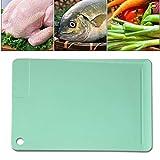 Tagliere, Plastica Antibatterico Senza BPA, Con Macinazione Succo Scanalatura Aglio, Tagliere Bordo Preparazione Tagliere da Cucina Professionale,Verde