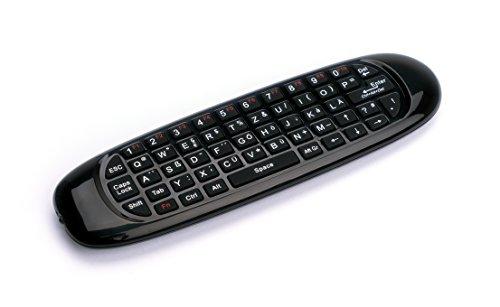 Xoro AMW100 Airmouse mit QWERTZ Tastatur und Mikrofon schwarz