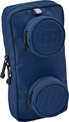 Lego Bags Signature Brick 1x2 - Bolso Bandolera (2,5 L, 25,5 x 12,5 x 5 cm, con Correa para el Hombro, Bolsillo en el Pecho en Azul, Mochila con Compartimento Principal y 2 Bolsillos Frontales)