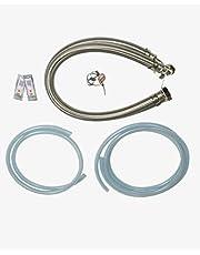 """Water2buy Installatiekit roestvrij staal gevlochten broek 1"""" (28mm) >Drain & Overflow Kit > Waterhardheidsteststrip"""
