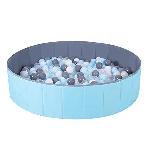 chlius Piscina redonda plegable de 100 x 30 cm, para jugar en interiores y exteriores, para niños pequeños y niñas (no incluye bolas y colchoneta)