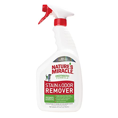 1. Nature's Miracle Stain and Odor Remover for Dogs (Best Enzyme Cleaner for Dog Urine)