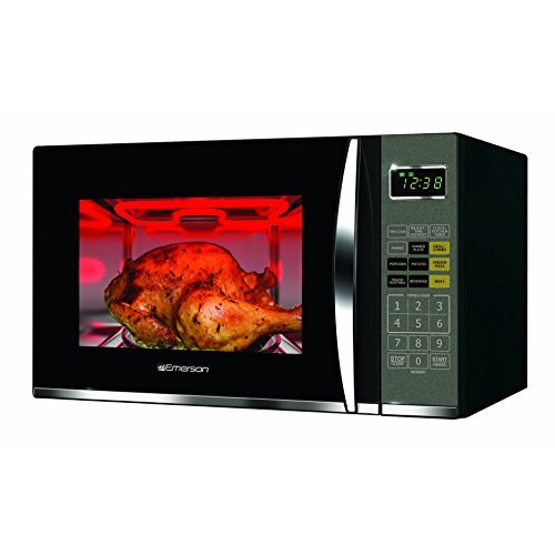 Read About Emerson 1.2 CU. FT. 1100W Griller Microwave Oven with Touch Control, Stainless Steel, MWG...