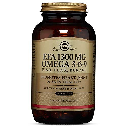Solgar   Omega 3-6-9   Aceite de Pescado, Lino y Borraja   Ácidos Grasos   120 Cápsulas blandas