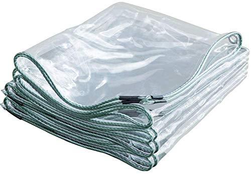 Lona Transparente,Lona Impermeable Transparente con Ojal,Cubierta De Hoja De Pérgola Gruesa para Trabajo Pesado, para Plantas De Invernadero Al Aire Libre 0.5mm(1.2 * 8m(3.9 * 26.2ft))